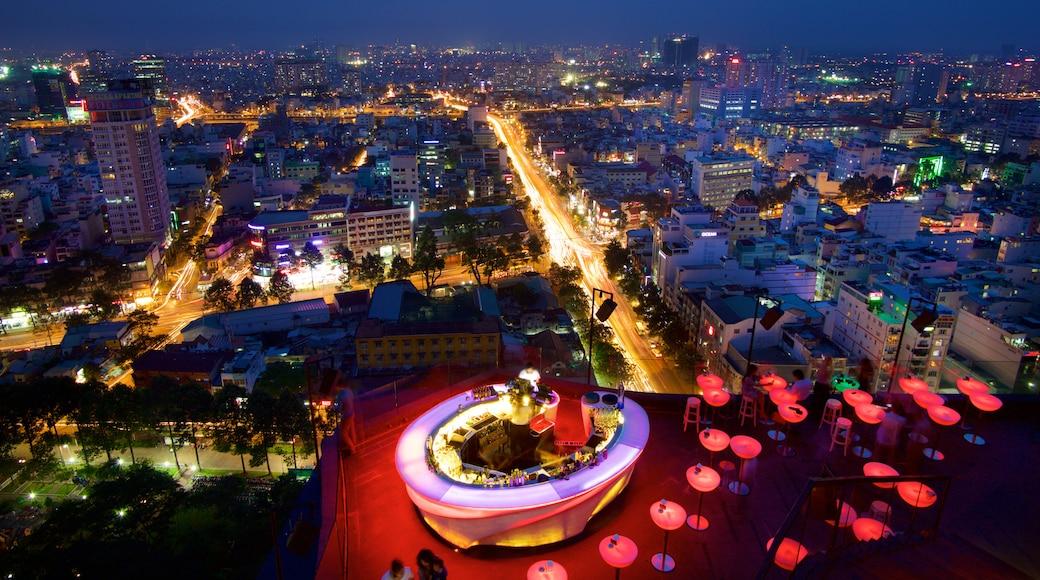 越南 呈现出 山水美景, 城市 和 夜景