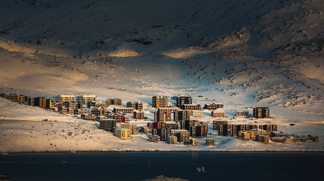 Nuuk featuring a city and snow