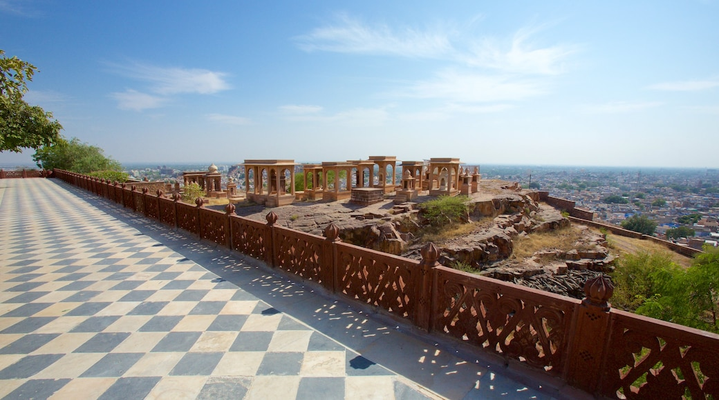 Jaswant Thada featuring building ruins