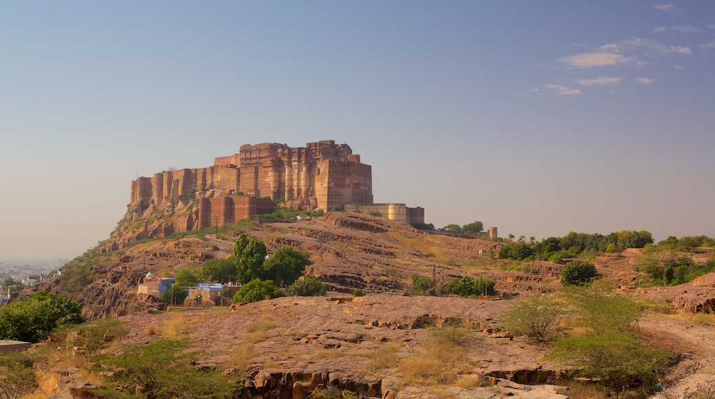 Mehrangarh Fort which includes desert views