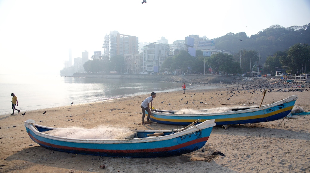 Mumbai which includes boating, a sandy beach and general coastal views