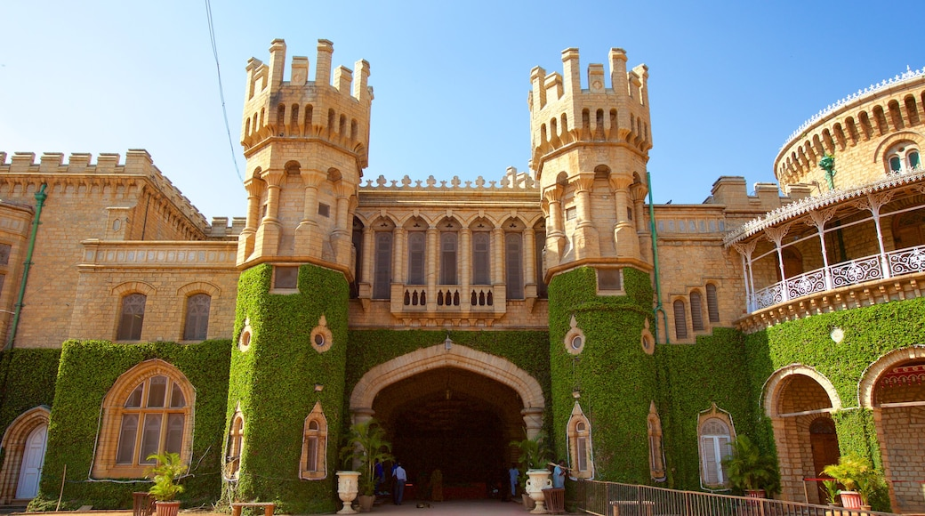 Bangalore Palace showing a castle, heritage elements and heritage architecture
