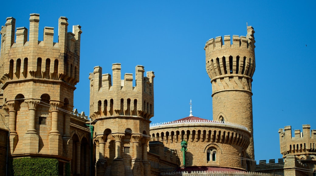 Bangalore Palace which includes château or palace, heritage architecture and heritage elements