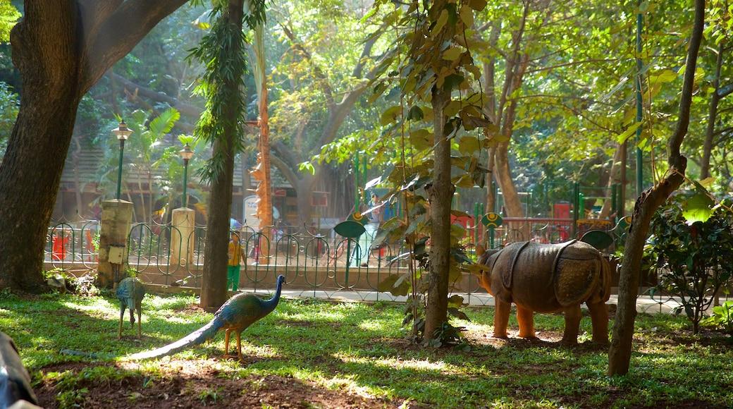 Cubbon Park showing a garden