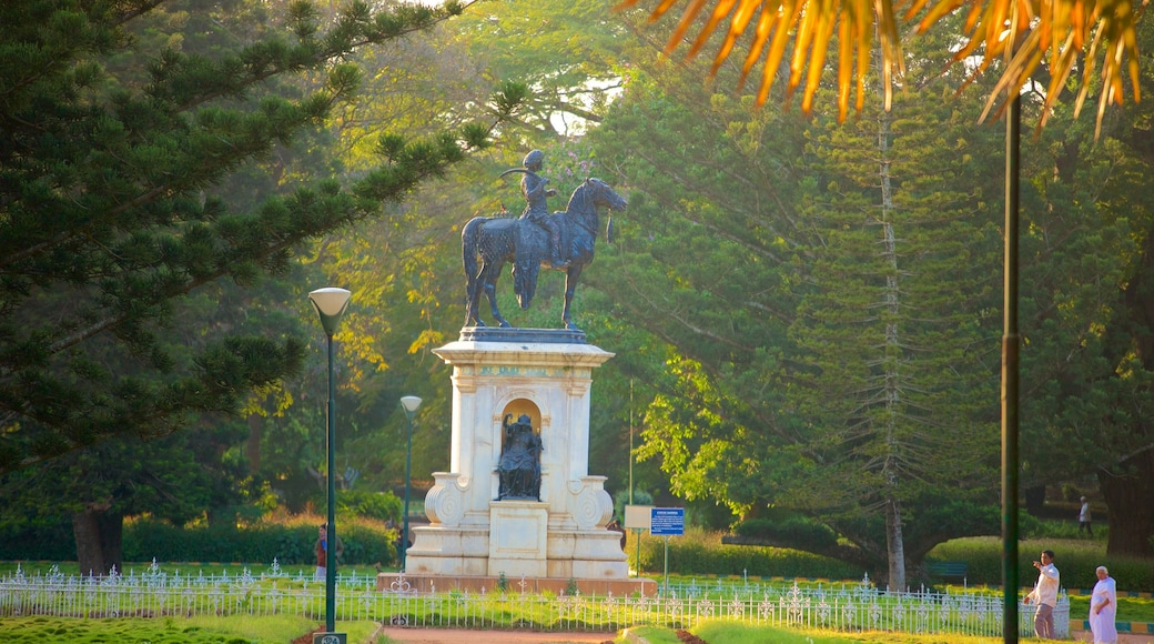 Lalbagh Botanical Gardens featuring a park and a statue or sculpture