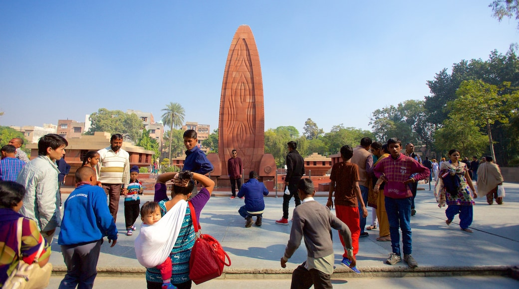 Jallianwala Bagh as well as a large group of people