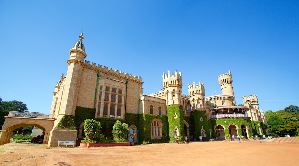 Bangalore Palace which includes a castle, heritage elements and heritage architecture