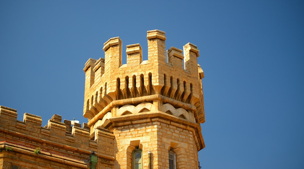 Bangalore Palace showing heritage elements, heritage architecture and château or palace