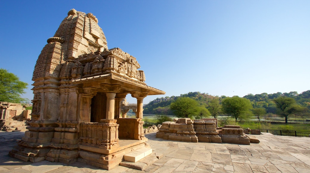 Nagda which includes a temple or place of worship, heritage elements and heritage architecture