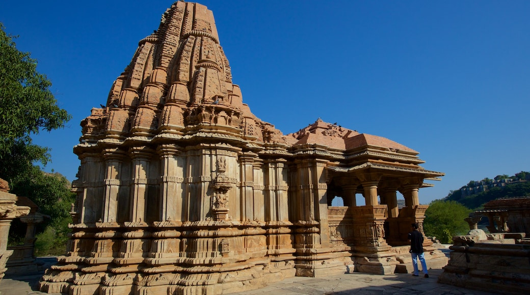 Nagda showing heritage architecture, heritage elements and a temple or place of worship