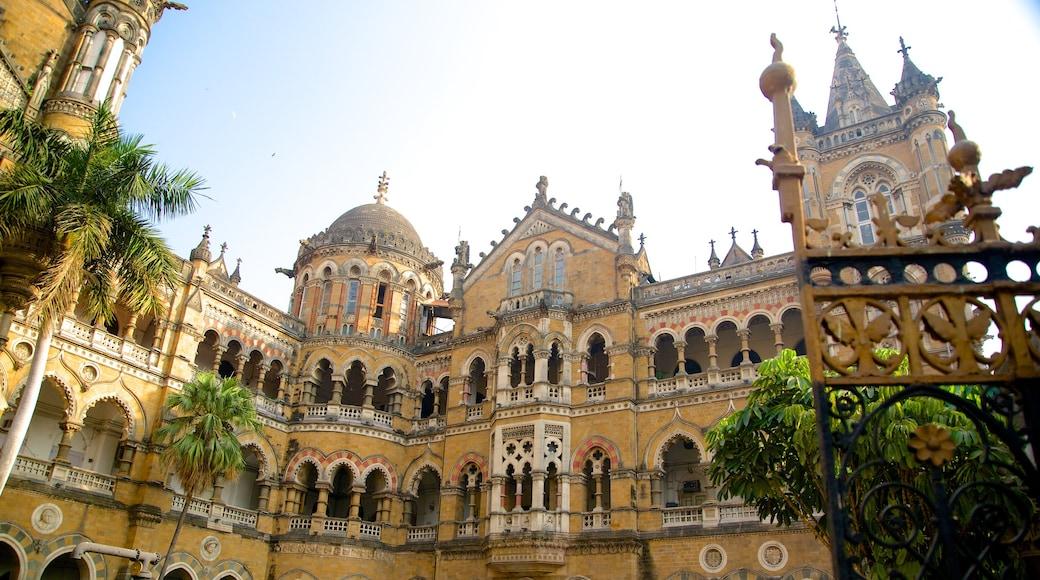 Chhatrapati Shivaji Terminus featuring heritage architecture and heritage elements