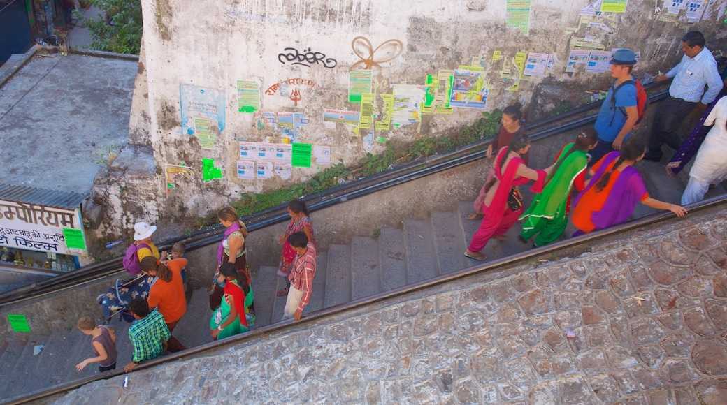 Lakshman Jhula as well as a small group of people