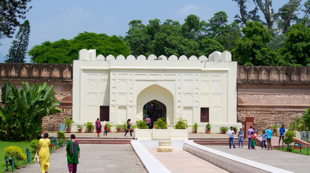 Yadavindra Gardens showing heritage elements and a park