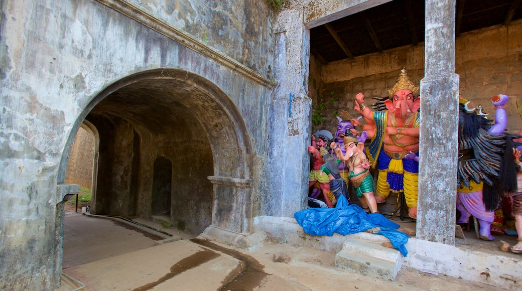 Madikeri Fort which includes art, religious elements and heritage elements