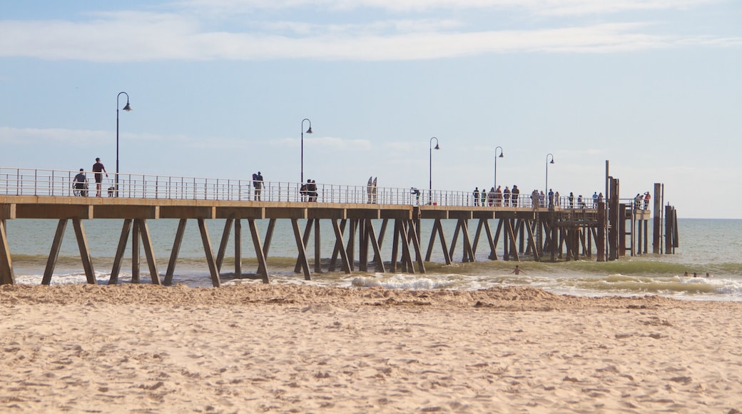 Glenelg Jetty featuring general coastal views, a beach and views