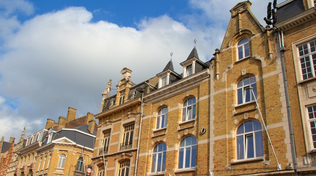 Ypres Market Square showing heritage architecture