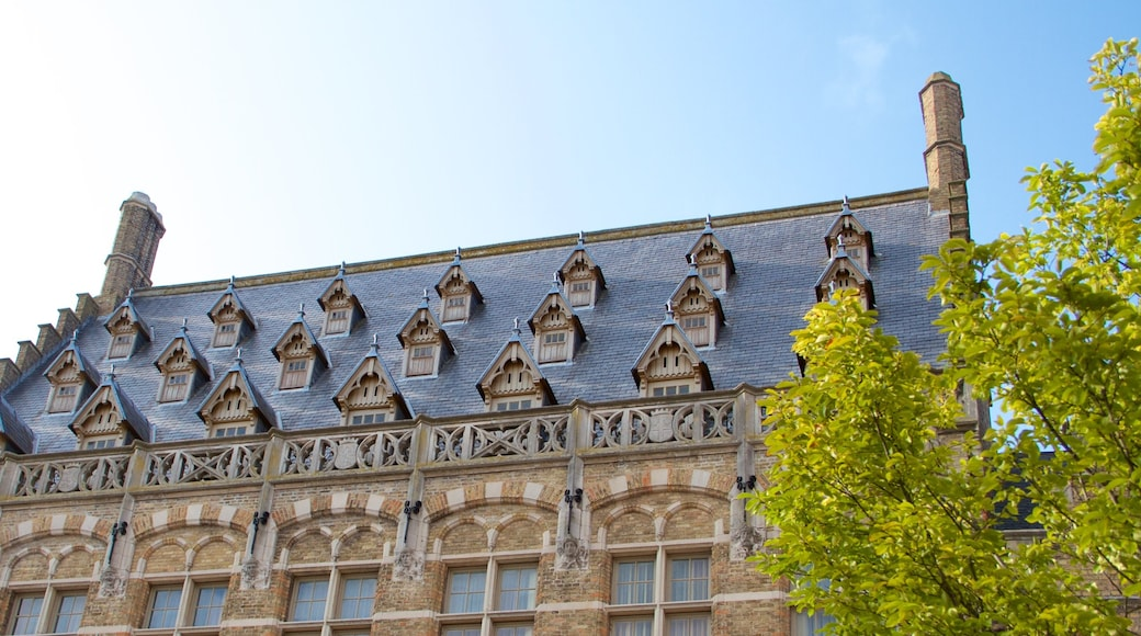 Ypres Market Square featuring heritage architecture