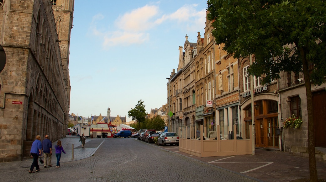 Ypres Market Square showing heritage architecture and a square or plaza