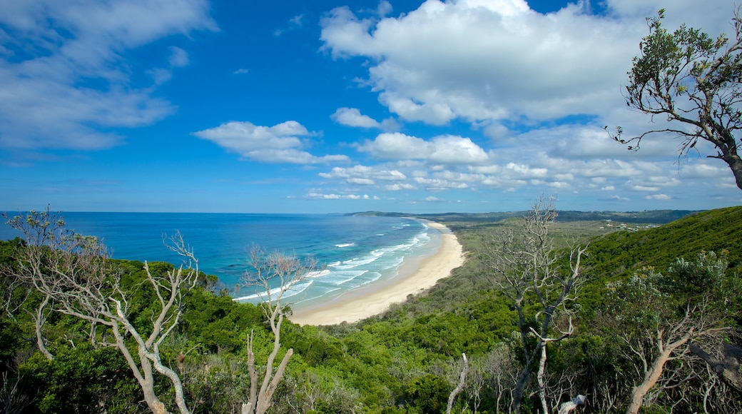Cape Byron Lighthouse featuring general coastal views, a sandy beach and surf