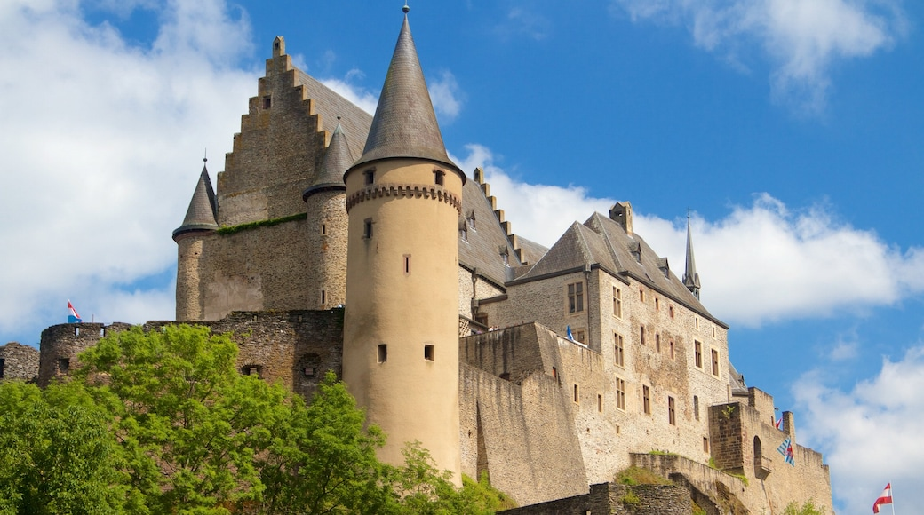 Vianden Castle featuring heritage elements and heritage architecture