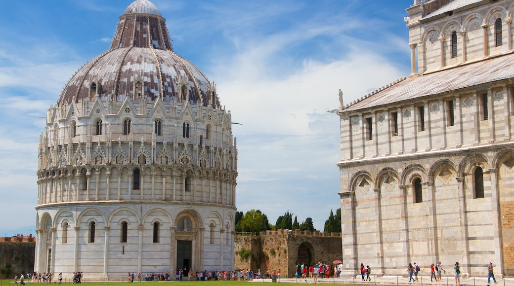Cathedral of Pisa which includes a monument, a church or cathedral and heritage elements