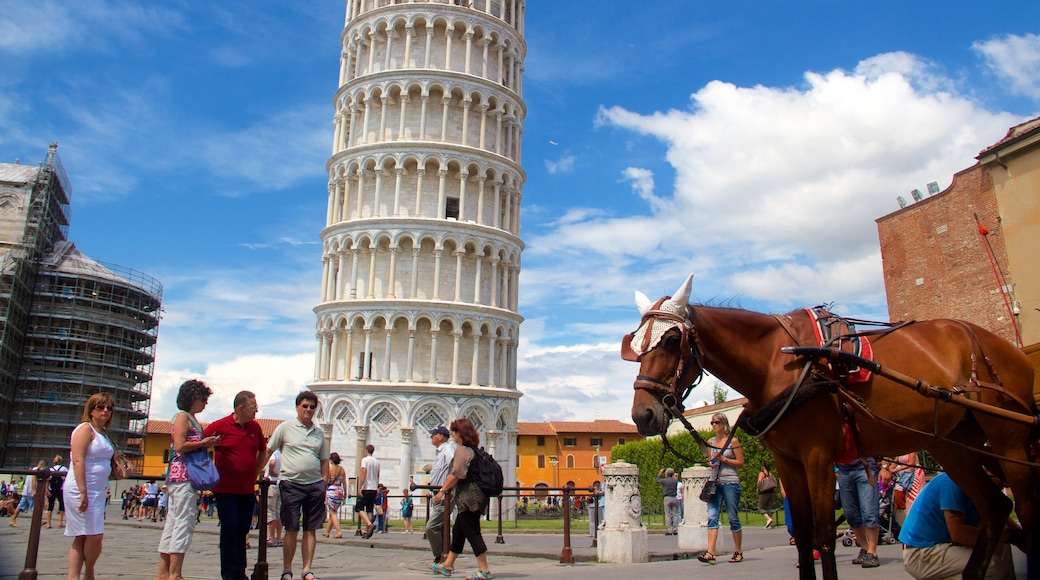 Leaning Tower featuring heritage architecture, land animals and a monument