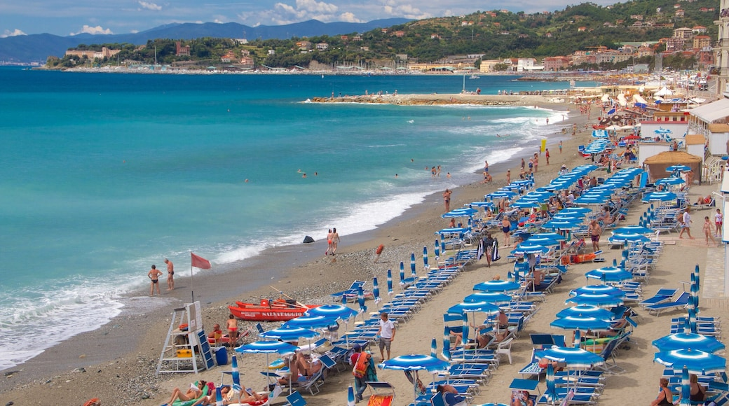Celle Ligure das einen Luxushotel oder Resort, allgemeine Küstenansicht und Küstenort