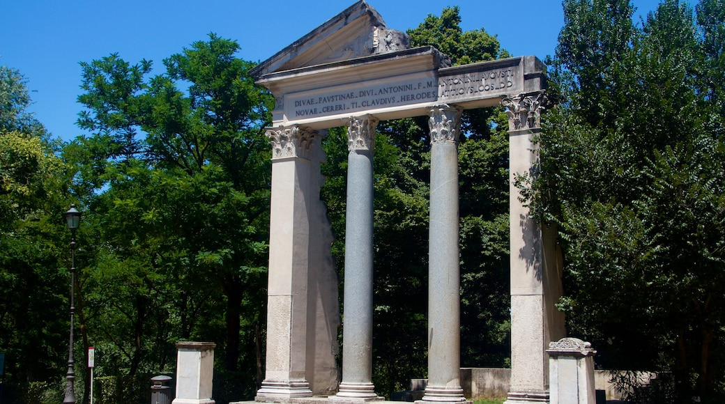 Villa Borghese which includes heritage architecture and a park