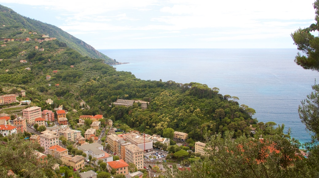Portofino - Golfo Tigullio som visar kustutsikter, en kuststad och en liten stad eller by