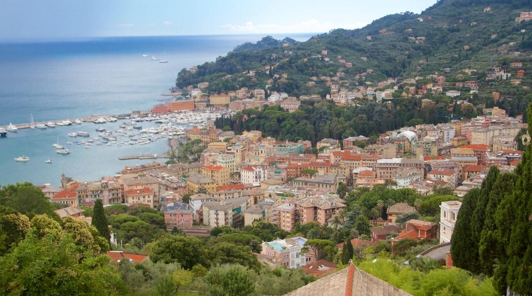 Portofino - Golfo Tigullio presenterar en kuststad, en hamn eller havsbukt och kustutsikter