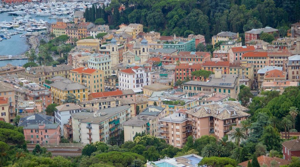 Portofino das einen Stadt, Küstenort und allgemeine Küstenansicht