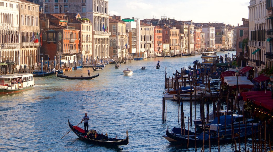 Grand Canal which includes watersports and heritage architecture