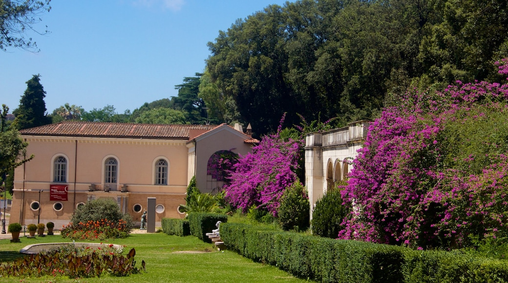 Villa Borghese featuring a house and flowers