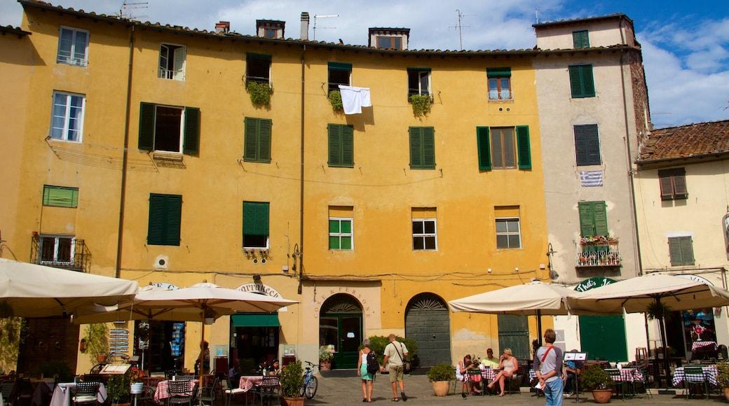 Eglise San Michele in Foro mettant en vedette sortie au restaurant