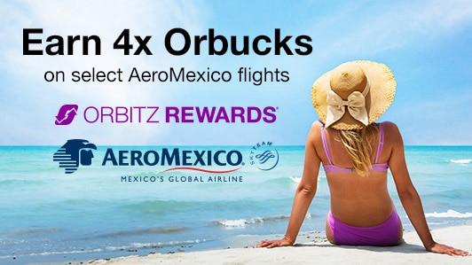 Bonus Orbucks on select AeroMexico flights