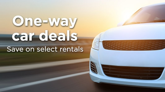 One-way car rental deals