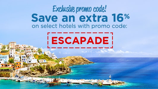 Exclusive promo code: ESCAPADE