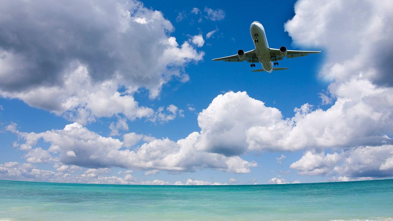 Море самолет картинки