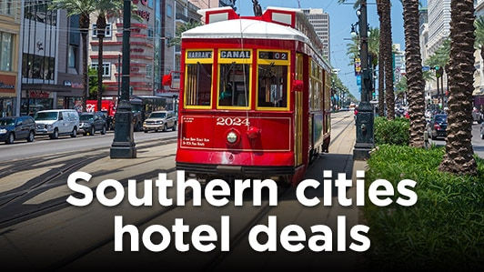 Southern cities hotel deals