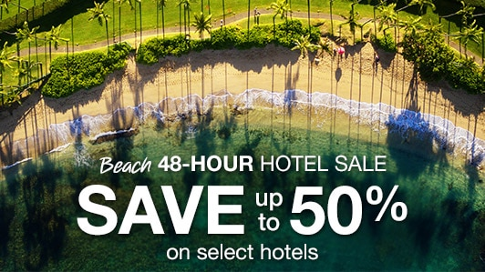 Beach 48-hour hotel sale