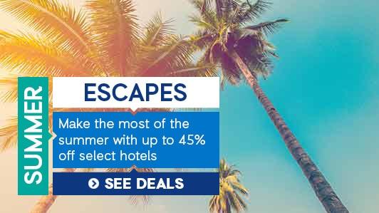 Enjoy discounts on sun and beach destinations across the globe.