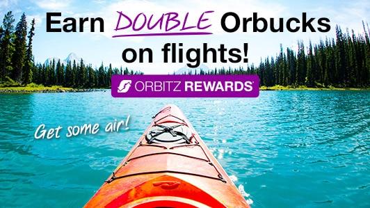 Earn DOUBLE Orbucks on flights