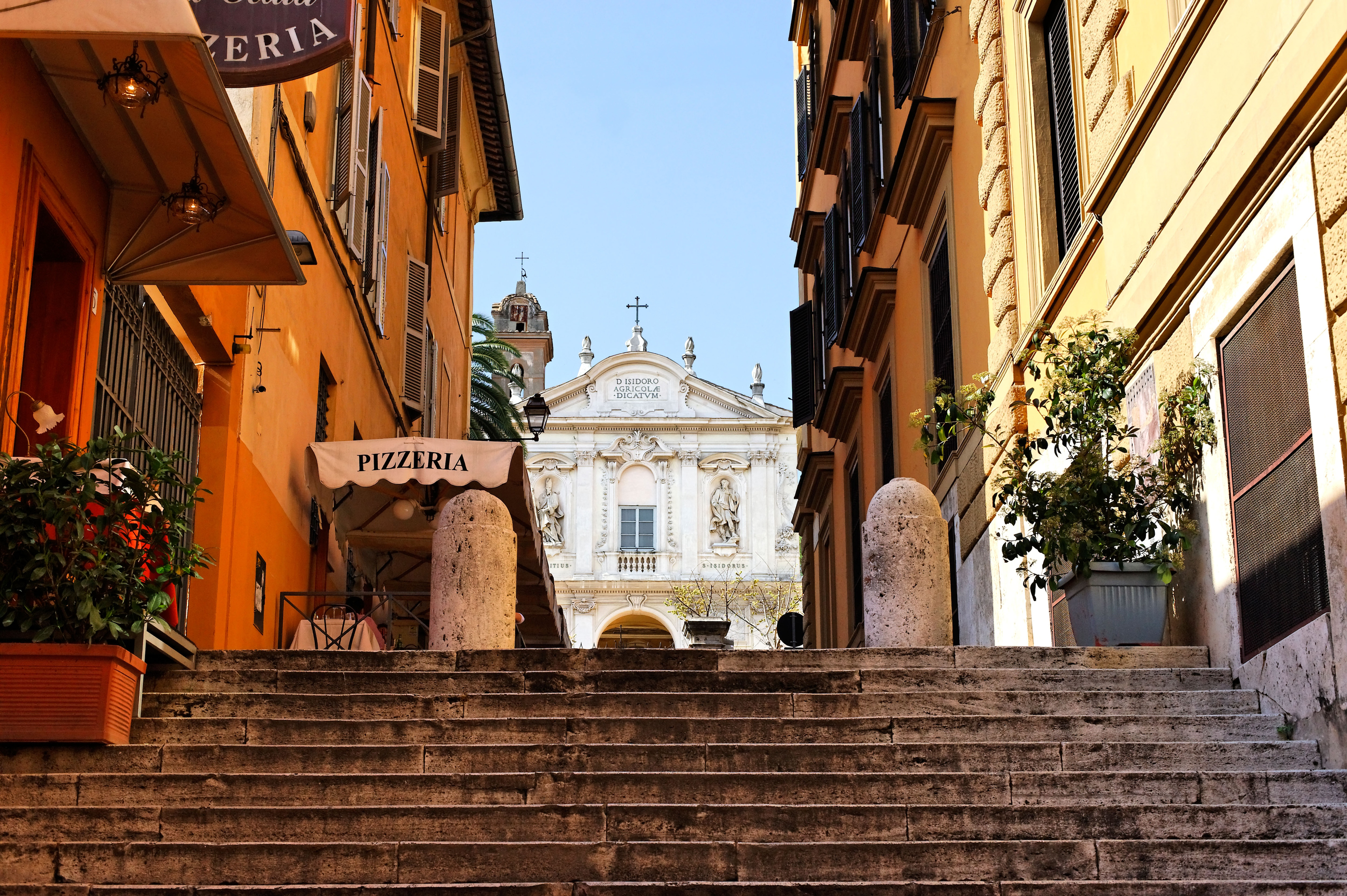 Steps leading from Via Veneto to Sant Isadora in Rome