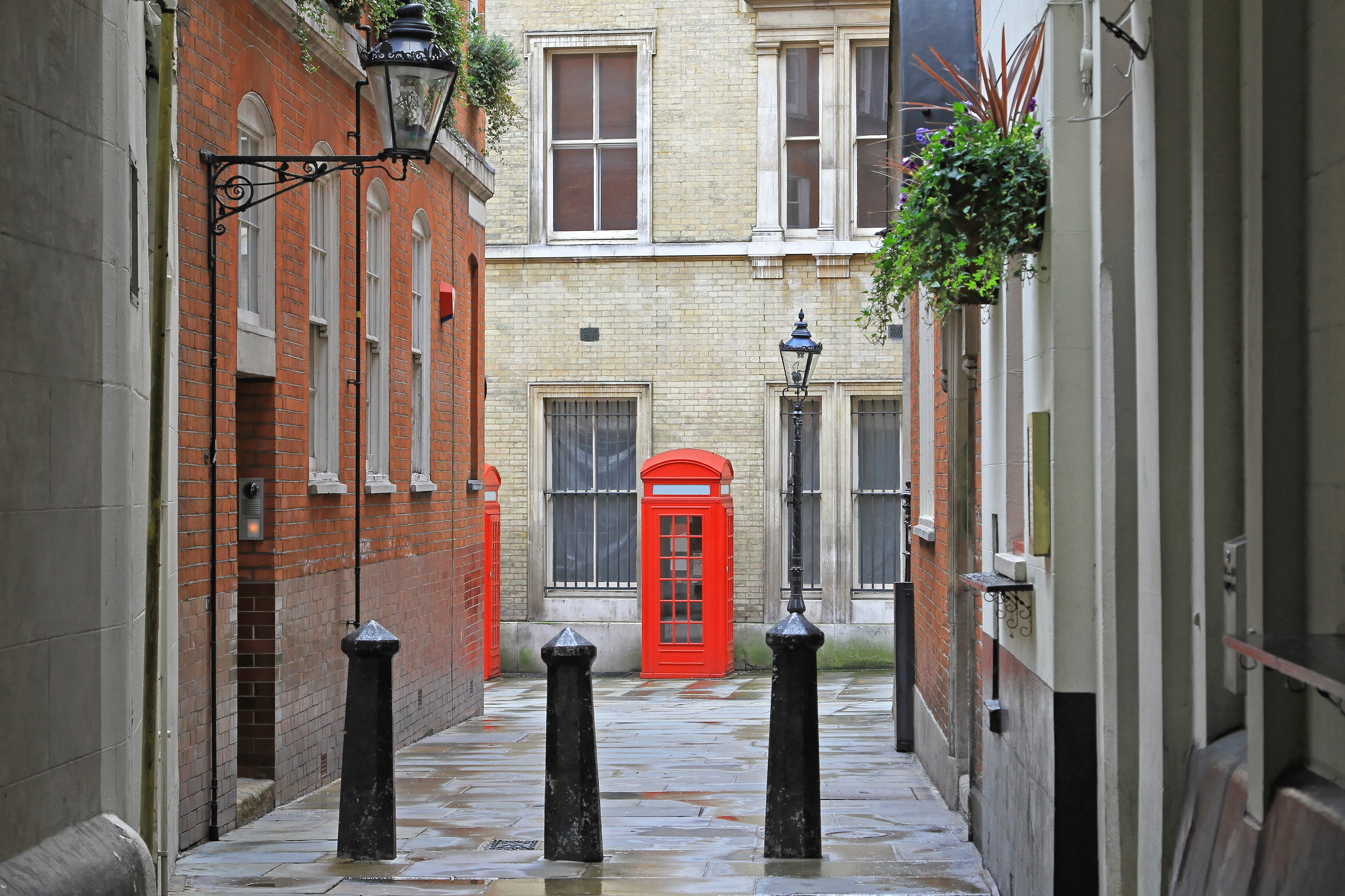 Traditional British Red Telephone Booth