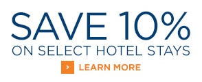 Save 10% on select hotel stays
