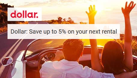 Dollar: Save up to 5% on your next rental
