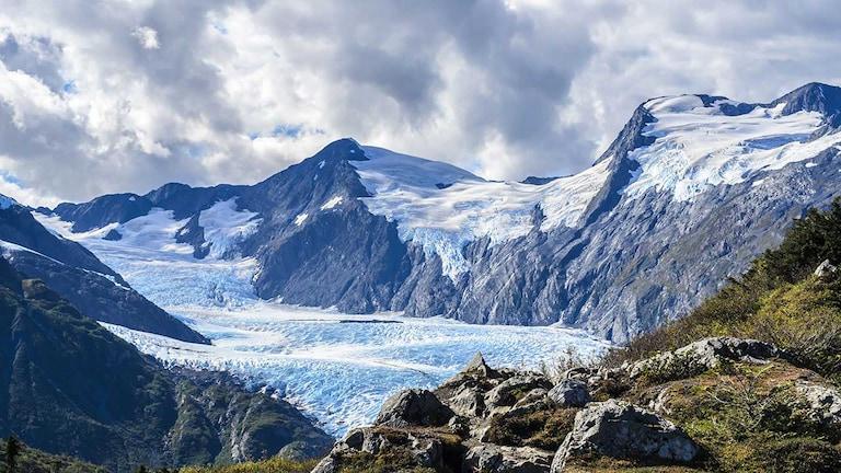 sprawling glacier in Alaska