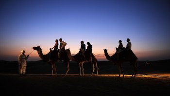 Overnight Desert Camp Experience with BBQ Dinner & Emirati Activities