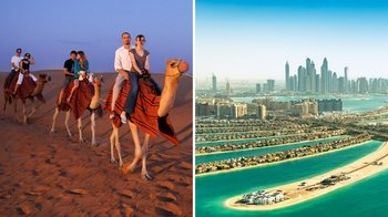 Combo Saver: Sunset Desert Safari & Half-Day City Tour