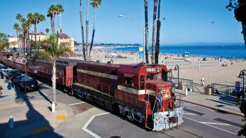 Santa Cruz Beach Train Adventure